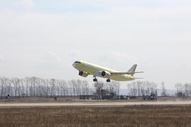 Третий опытный самолет МС-21 совершил перелет из Иркутска в Ульяновск