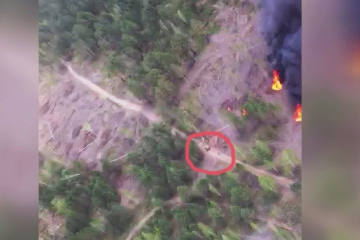В Иркутской области летчик-наблюдатель заснял возможных поджигателей леса