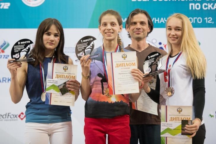 Ангарчанка Дарья Веретенина победила на первенстве России по скалолазанию