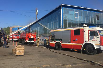 В торговом центре «Торгсервис» произошел пожар
