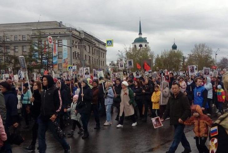 15 тысяч человек приняли участие в шествии «Бессмертный полк» в Иркутске