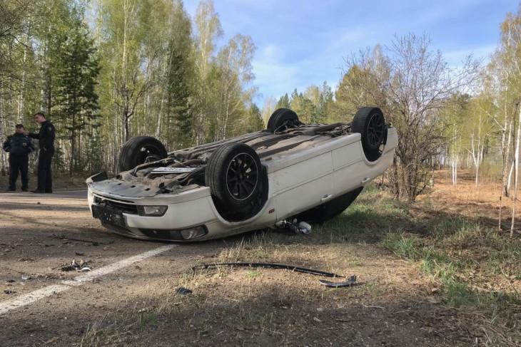 Под Ангарском пьяный водитель погиб при опрокидывании автомобиля