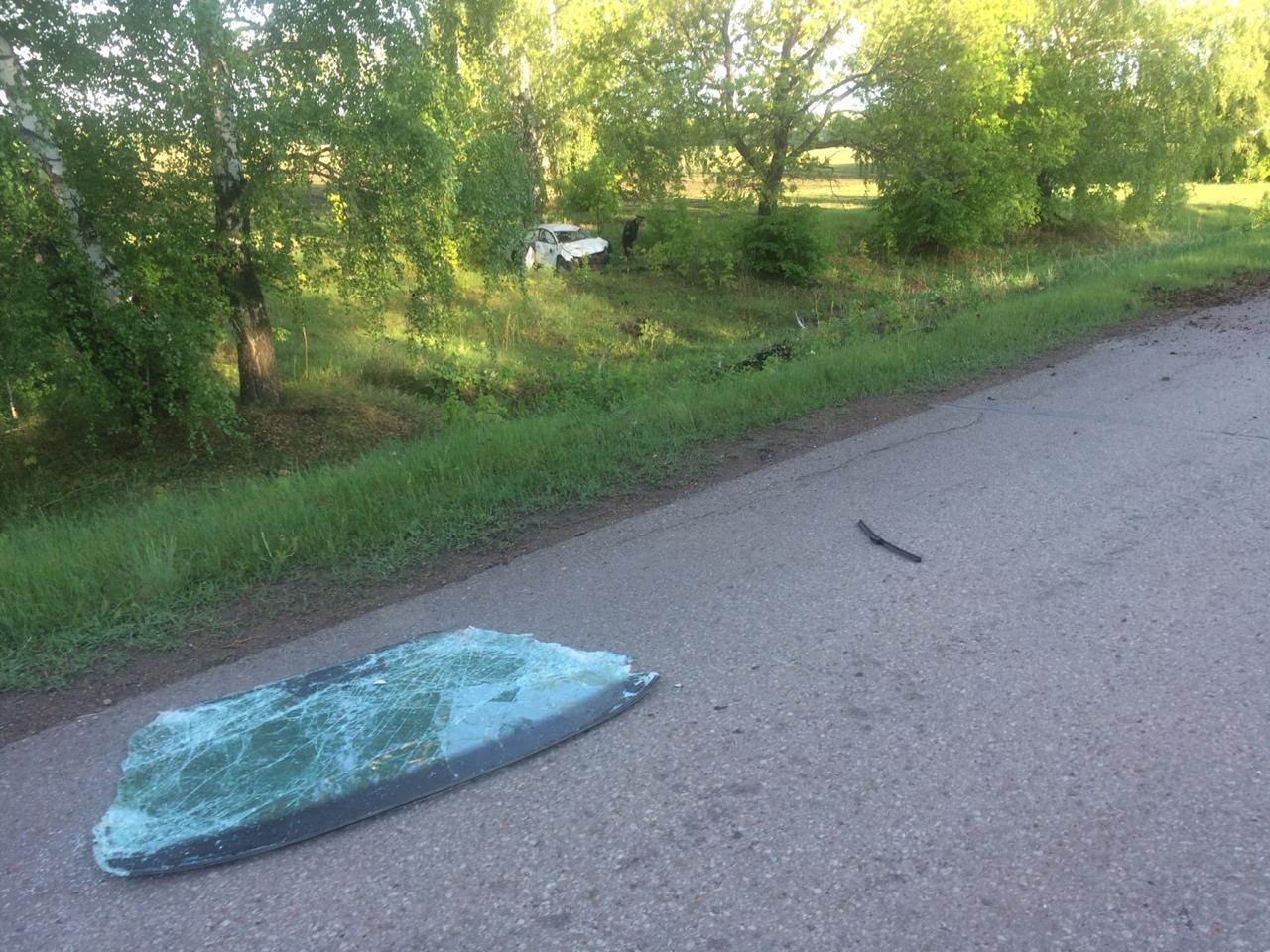 В Башкирии иномарка вылетела в кювет – Водитель погиб, его отец госпитализирован
