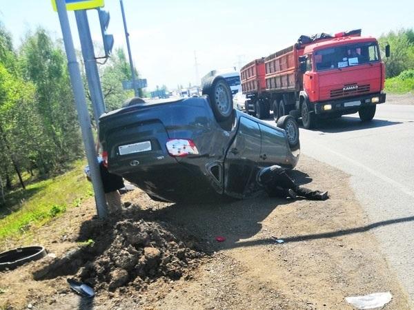 В Башкирии из-за сломавшегося светофора произошло серьезное ДТП