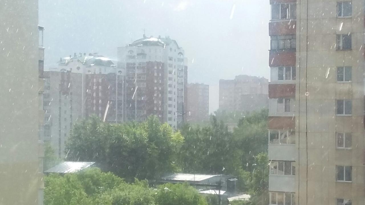 На Уфу обрушился град