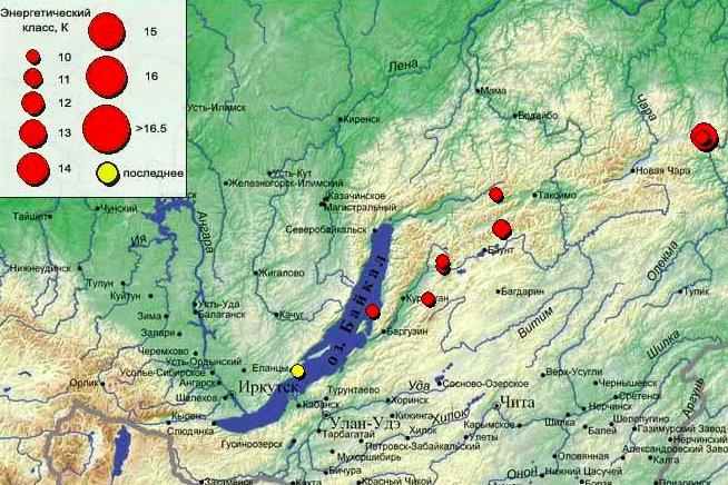 5 июня на Байкале произошло землетрясение силой до 3 баллов