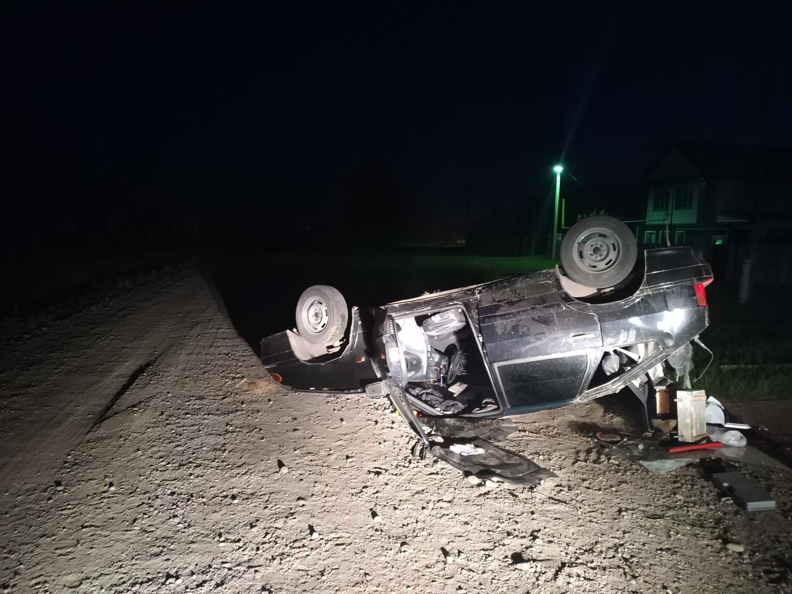 В Башкирии перевернулась вазовская «четырнадцатая» с пьяным водителем за рулем