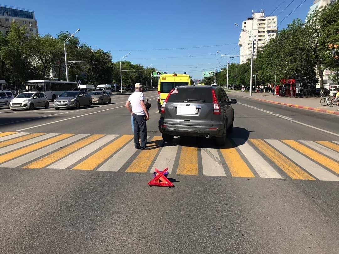 В Уфе пожилая женщина серьезно пострадала в ДТП