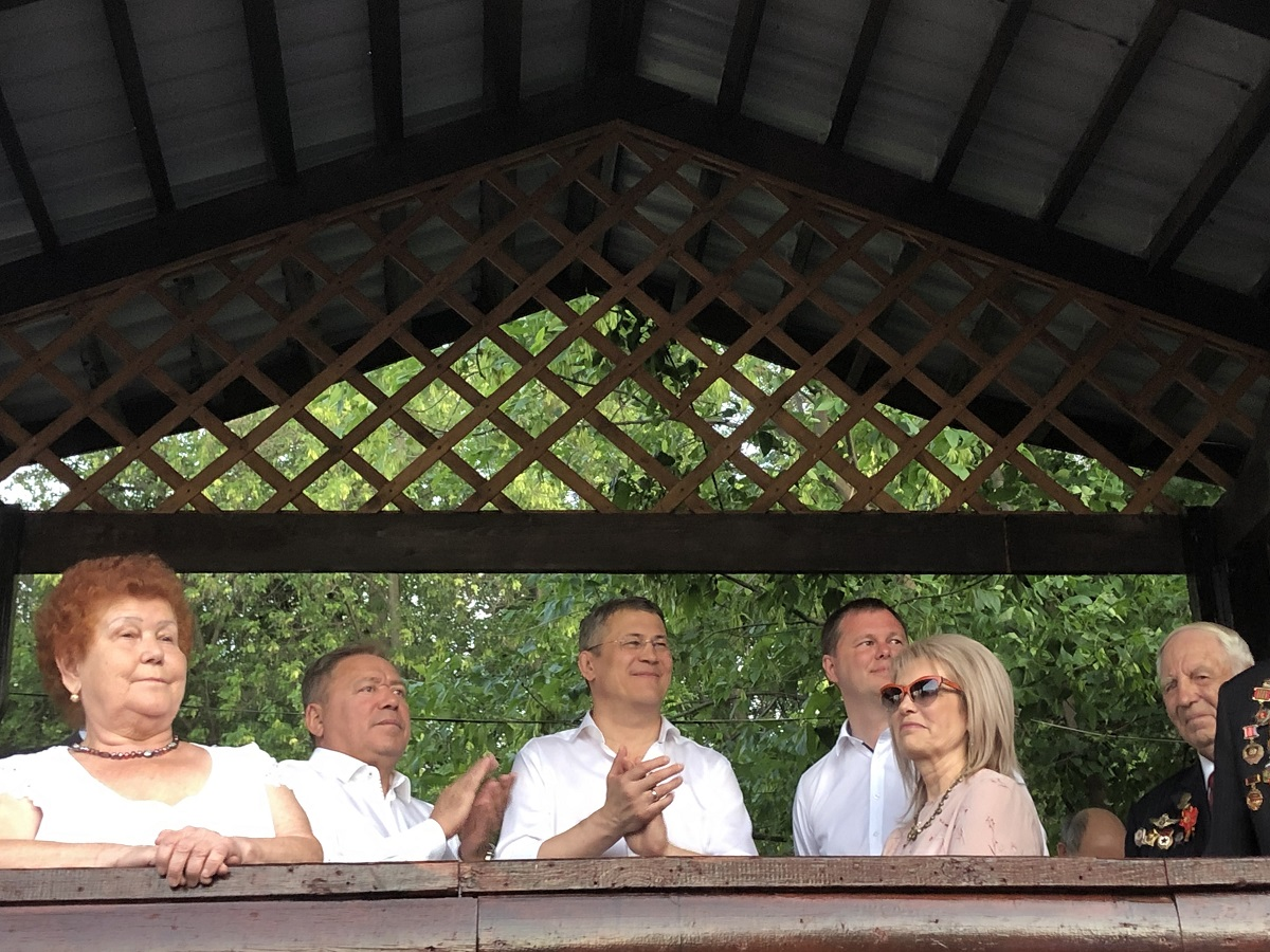 Радий Хабиров посетил концерт, посвященный 75-летию Демского района