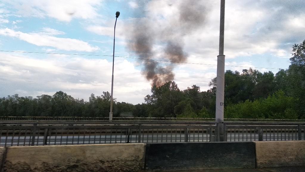 В одном из микрорайонов Уфы произошел пожар