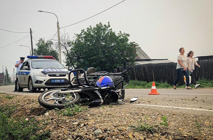 В Урике погиб мотоциклист, перевозивший двух детей