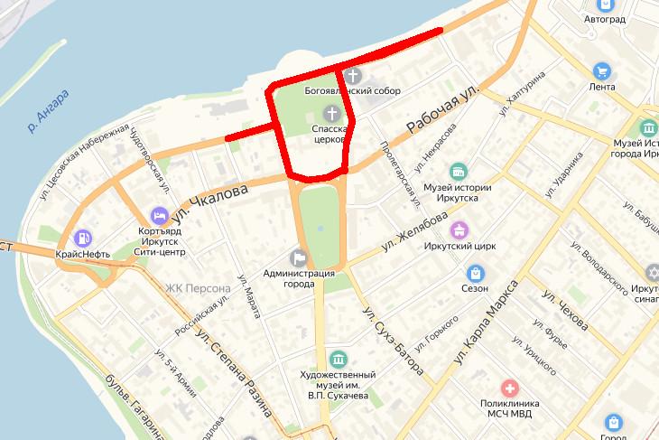 6 июля в центре Иркутска ограничат движение транспорта из-за проведения ралли