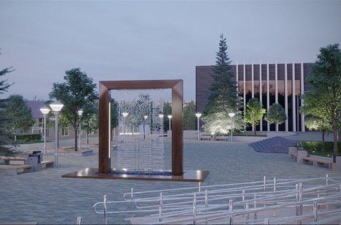 К монтажу фонтана на площади Академгородка приступят в августе