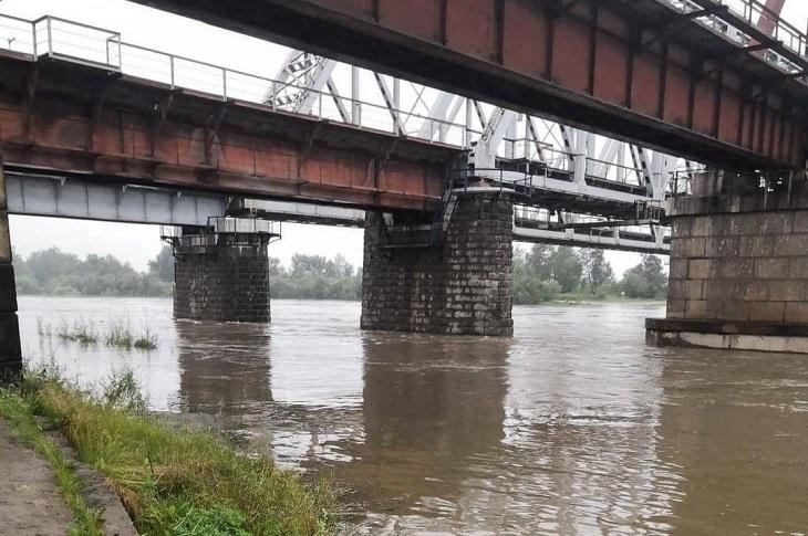 Уровень воды в реке Ия в Тулуне достиг 9,4 метра