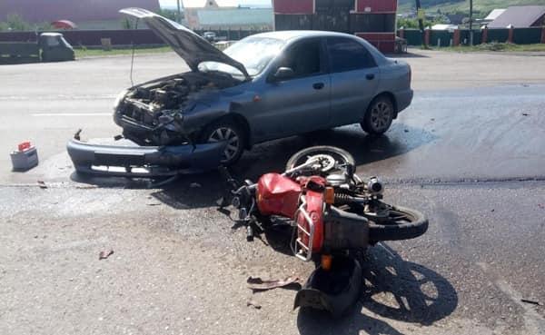 В Башкирии в ДТП пострадал 44-летний мотоциклист