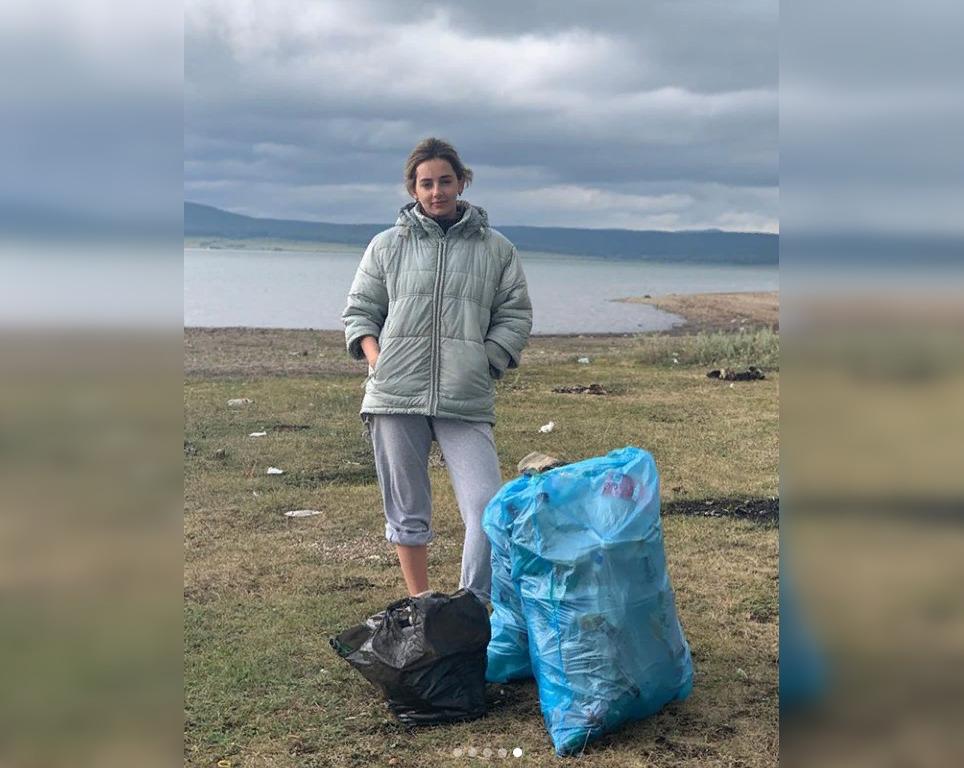 Популярная актриса из сериала «Даешь молодежь!» устроила субботник на Нугушском водохранилище