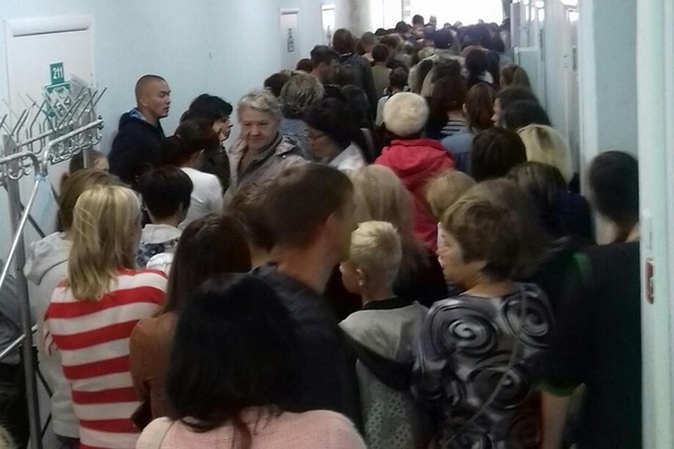 В Башкирии в детской поликлинике образовалась давка