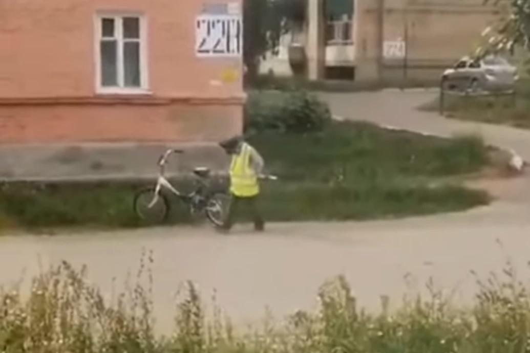 Видео: В одном из городов Башкирии на улице заметили необычного сотрудника ДПС