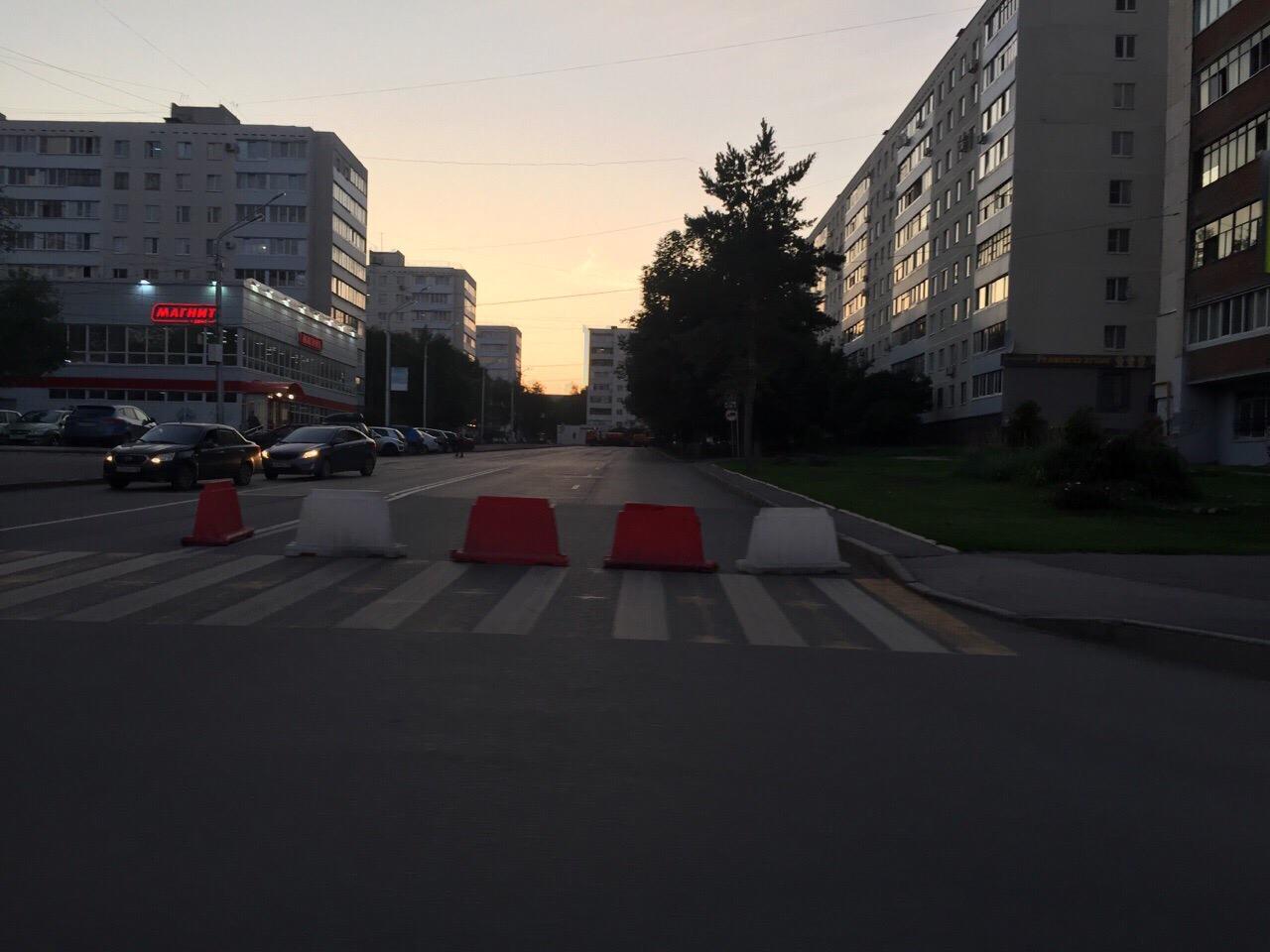 В Уфе временно перекрыли движение по одному из проездов