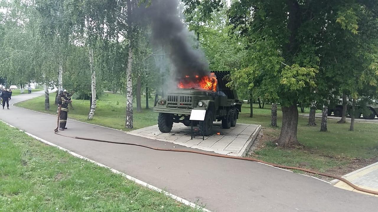 В Башкирии неизвестные подожгли военный экспонат в парке Победы