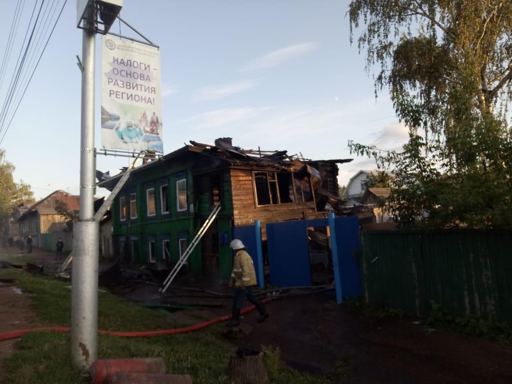 В Башкирии в результате пожара пострадали женщина и ребенок