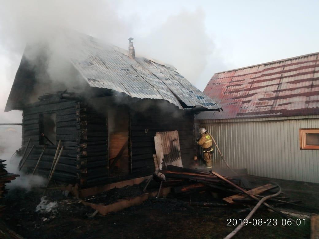 В одном из сел Башкирии сгорела баня