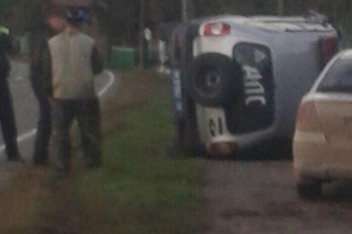 В Качугском районе пьяный тракторист наехал на автомобиль ДПС