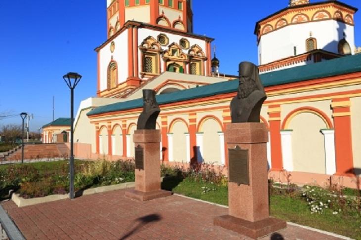 У собора Богоявления откроют бюст первому епископу Святителю Иннокентию Иркутскому