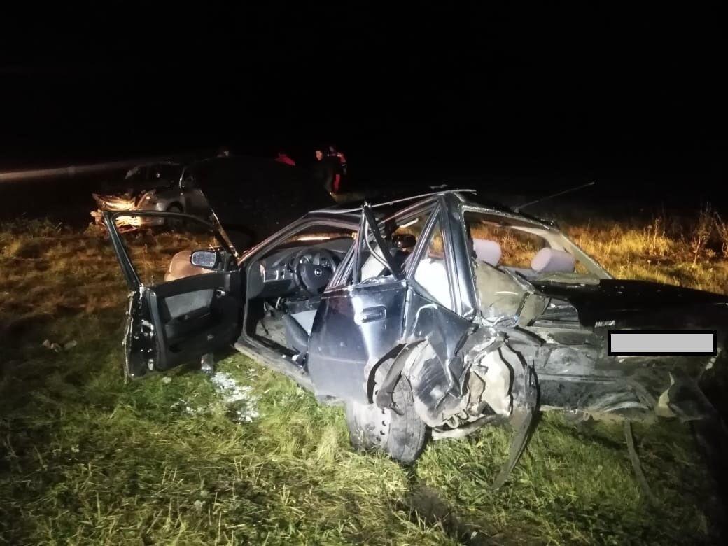 Под Уфой произошло ДТП с 4 пострадавшими