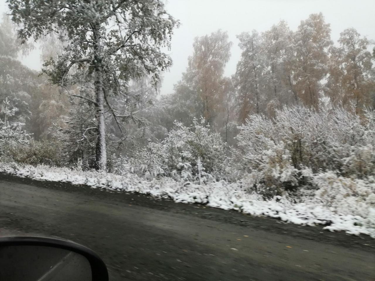 «Зима пришла»: Один из районов Башкирии за ночь засыпало снегом