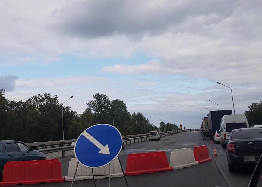 В Башкирии на трассе М-5 образовалась огромная пробка