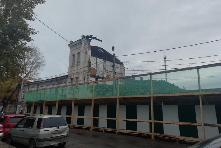 Служба по охране объектов культурного наследия региона не согласовывала снос усадьбы Перевалова