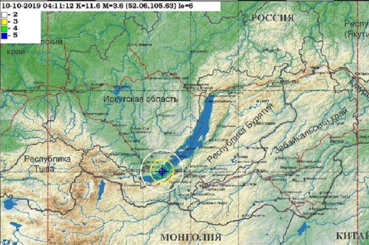 В Иркутске произошло землетрясение днем 10 октября