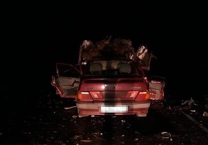 В Башкирии на трассе столкнулись Lada и трактор
