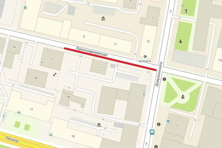 Движение автотранспорта по улице Красноармейской в Иркутске ограничат с 24 октября