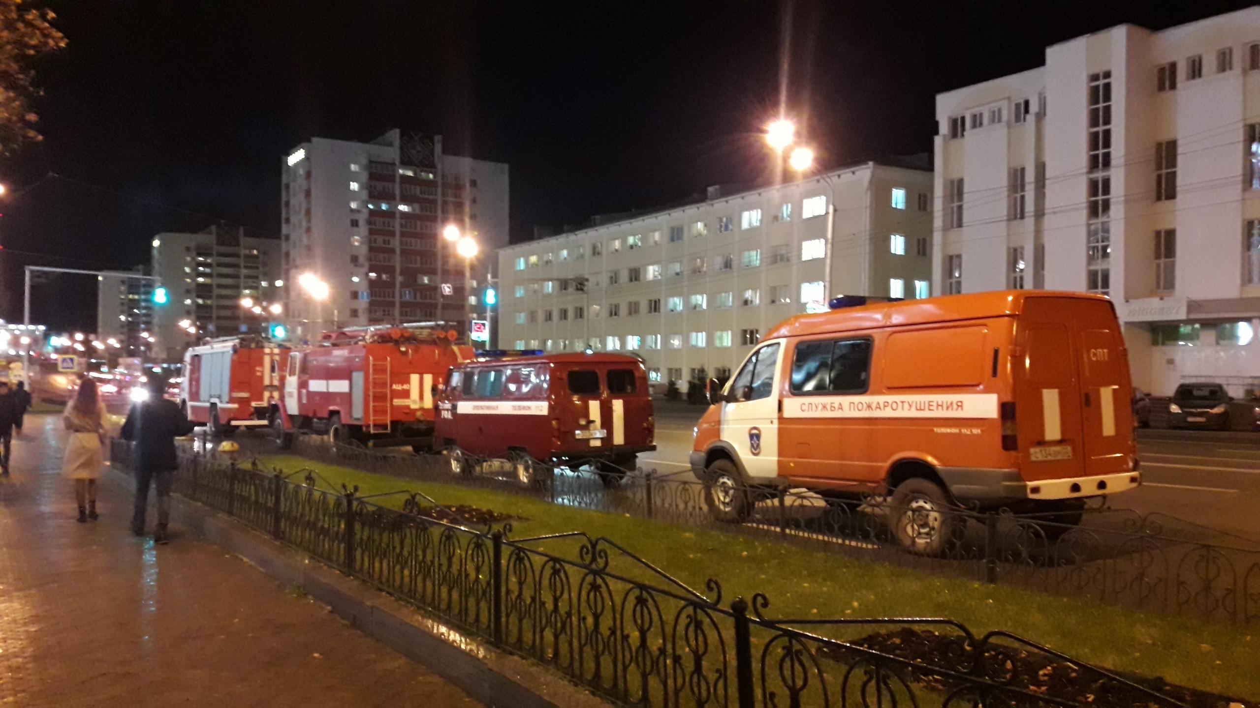 В главном корпусе БашГУ произошел пожар