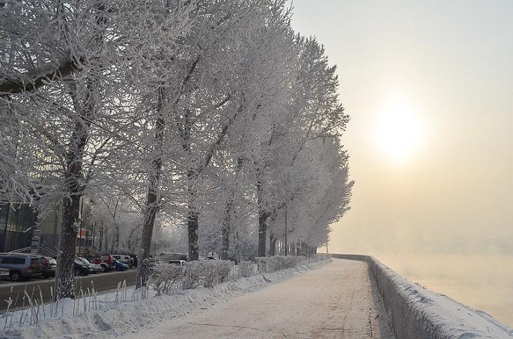 Метель и -30 градусов ожидаются в Иркутской области в выходные