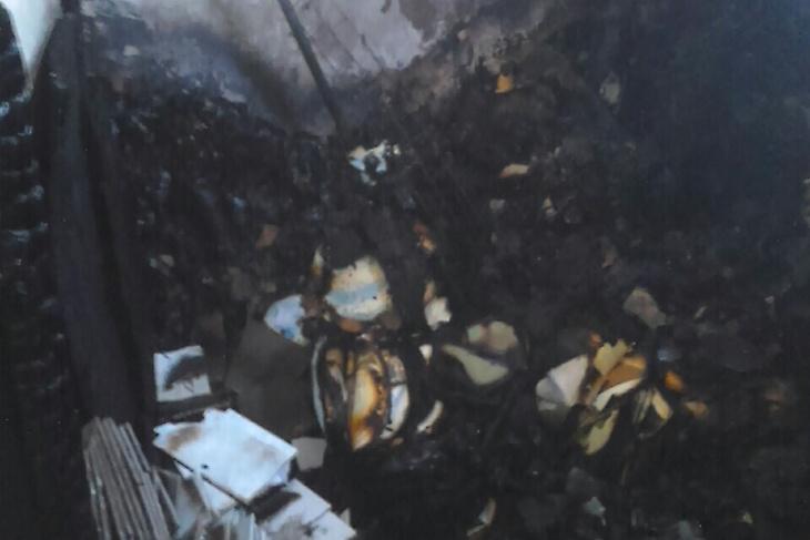 Четырнадцать человек спасли на пожаре в жилом доме в Ново-Ленино