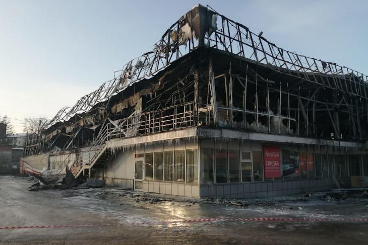 МЧС назвал предварительную причину пожара в мебельном магазине на Сергеева