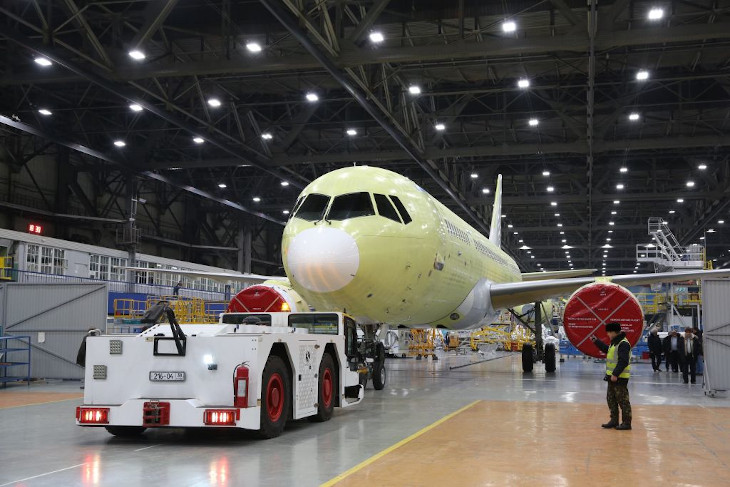 В Иркутске завершили строительство четвертого опытного самолета МС-21
