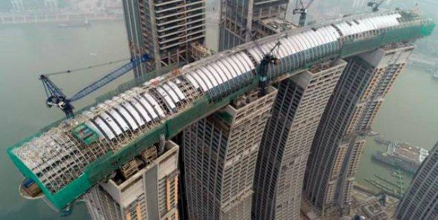 В Китае строят горизонтальный небоскреб