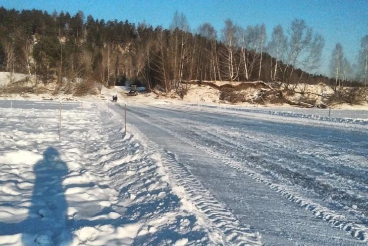 Первую ледовую переправу открыли в Иркутской области