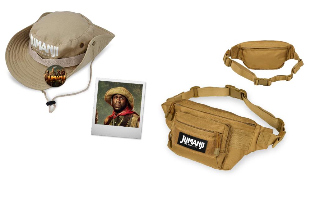 Выиграйте шляпу и поясную сумку от создателей фильма «Джуманжи: новый уровень»
