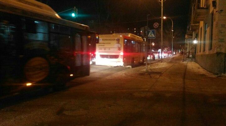 В Уфе из-за перекрытого участка дороги возник транспортный коллапс